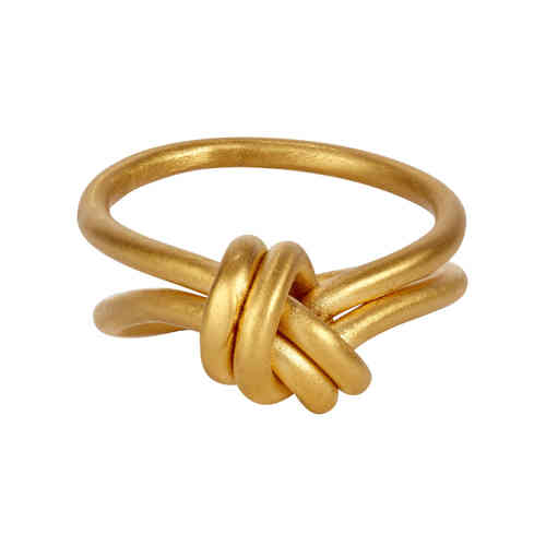 small double knot ring gold