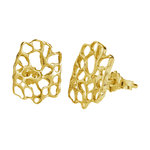 mexican coral earring gold